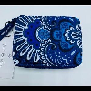 Vera Bradley Travel Pill Case Blue Tapestry